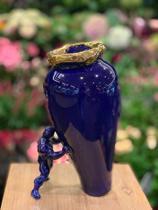 My superhero vase - blauw met goud -