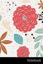 Notebook: Natur, Form, Bl�tter, Blumen Notizbuch / Tagebuch / Schreibheft / Notizen - 6 x 9 Zoll (15,24 x 22,86 cm), 150 Seiten,
