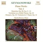Szymanowski: Piano Works Vol.2