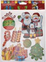 Kerst decoratie 3D raamstickers type 1 29 x 36 cm