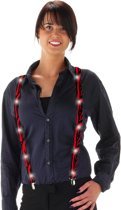 LED Suspenders Bretels - Blood - Verkleedaccessoires