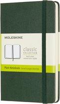 Moleskine Notitieboek-Pocket-Blanco-Groen-Harde Kaft