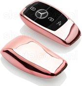 Mercedes SleutelCover - Rose Goud / TPU sleutelhoesje / beschermhoesje autosleutel