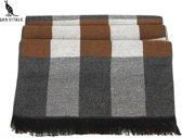 SanVitaleHsjaalBlokB Kleurrijke San Vitale mannen Sjaal, lux modieus design 2018 winter warm lang zacht wol zijde kasjmier plaid sjaal voor moderne mannen.