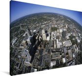 Luchtfoto van het Noord-Amerikaanse Raleigh Canvas 140x90 cm - Foto print op Canvas schilderij (Wanddecoratie woonkamer / slaapkamer)