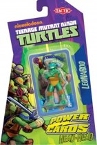 Teenage Mutant Ninja Turtles Power Cards incl. Leonardo Figure - Kaartspel