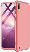 Teleplus Samsung Galaxy A10 360 Ays Hard Rubber Cover Case Rose Gold hoesje
