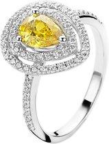 Orphelia ZR-7048/52 Zilver Ring With Zirconium /Yellow Cz