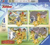 Ravensburger Disney The Lion Guard Vier puzzels 12 16 20 24 stukjes