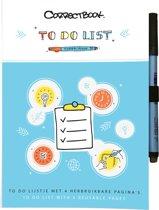Correctbook Scratch to-do list - Uitwisbaar / herbruikbaar / whiteboard notitieboek