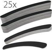 25x boomerang nagel vijlen #100/180, zwart