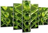 Glasschilderij Abstract | Groen | 170x100cm 5Luik | Foto print op Glas |  F003974