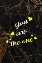 You Are The One: Marriage Notebook Journal Composition Blank Lined Diary Notepad 120 Pages Paperback Black Marble