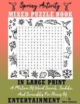 Spring Activity Puzzle Book In Large Print