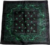 Paisley bandana jade zwart/groen - Zac's Alter Ego