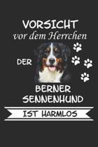 Vorsicht vor dem Herrchen der Berner Sennenhund ist Harmlos: Notizbuch A5 Kariert Lustig Geschenk f�r Hundeliebhaber Hunderasse Berner Sennenhund