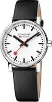 Mondaine evo2 MSE.35110.LB Horloge - Leer - Zwart -  Ø35 mm