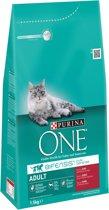 Purina ONE Adult - Rund/Volkoren Granen - Kattenvoer - 3 x 1,5 kg