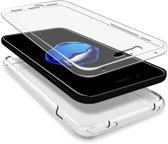 Apple iPhone 8 / 7 - Voor en Achterkant 360 Graden Bescherming Shockproof Siliconen Gel TPU Case Screenprotector Transparant Cover Hoesje - (0.5mm)