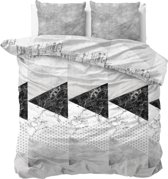 Sleeptime Marble Art - Dekbedovertrekset - Tweepersoons - 200x200/220 + 2 kussenslopen 60x70 - Grijs