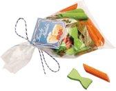 Haba Houten Pasta In Een Zakje Oranje/groen 6 X 8 Cm