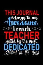 This Journal belongs to an Awesome French Teacher