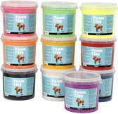 Foam Clay, kleuren assorti, 10x560 gr