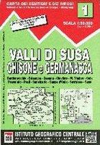 IGC Italien 1 : 50 000 Wanderkarte 01 Valli di Susa, Chisone e Germanasca