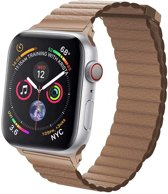 Kunstleren Bandje - Bruin - Magneetsluiting - Voor Apple Watch  - 42/44 mm