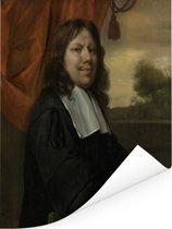 Zelfportret - Schilderij van Jan Steen Poster 120x160 cm - Foto print op Poster (wanddecoratie woonkamer / slaapkamer) XXL / Groot formaat!