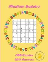Medium Sudoku - 200 Puzzles With Answers: Large Print - Volume 2