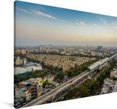 Skyline van Bangalore in India Canvas 30x20 cm - klein - Foto print op Canvas schilderij (Wanddecoratie woonkamer / slaapkamer)