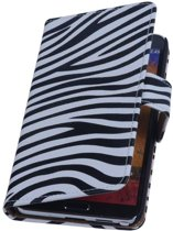 Samsung Galaxy Note 4 N910F Wit | Zebra bookstyle / book case/ wallet case Hoes  | WN™
