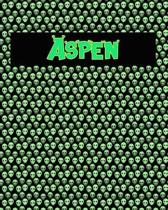 120 Page Handwriting Practice Book with Green Alien Cover Aspen