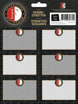 Etiketten feyenoord grijs: 18 stuks (307639)