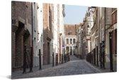 Historische straten in de Franse stad Rijsel Aluminium 60x40 cm - Foto print op Aluminium (metaal wanddecoratie)