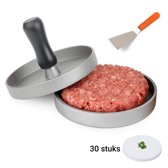 Hamburger Set – Hamburgerpers – Spatel – Waxpapier – Zelf Hamburgers Maken