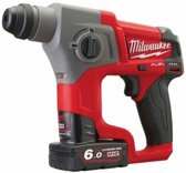 Milwaukee M12 CH-602X 12V Li-Ion Accu SDS-plus boorhamer set (2x 6.0Ah accu) in HD Box - 1,1J - koolborstelloos