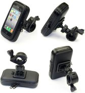 Universele Telefoonhouder Fiets Waterdicht – Smartphone Case Schokbestendig met Opbergruimte Medium – Zwart