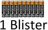 10 Stuks (1 Blister a 10 st) kodak xtralife AAA Batterijen
