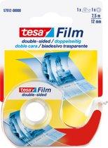 Tesa Film Dubbelzijdig Met Dispenser - 7,5 m x 12 mm