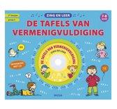 Boekomslag van 'Zing en leer de tafels van vermenigvuldiging met CD'