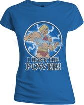 Masters of the Universe - I Have the Power Vrouwen T-Shirt - Blauw - M