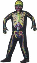 Halloween glow in the dark skelet kostuum / jumpsuit voor kinderen jaar)