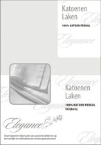 Laken Katoen Perkal - licht grijs 150x250