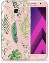 Samsung Galaxy A3 2017 TPU siliconen Hoesje Leaves