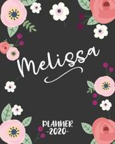 Melissa: Personalized Name Weekly Planner. Monthly Calendars, Daily Schedule, Important Dates, Goals and Thoughts all in One!