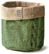 SIZO jute bag olijf groen 15 cm