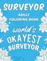 Surveyor Adult Coloring Book: A Snarky, Humorous & Relatable Adult Coloring Book For Surveyors