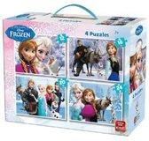Disney 4-in-1 Puzzle Frozen - Vier Kinderpuzzels in een Koffertje - King